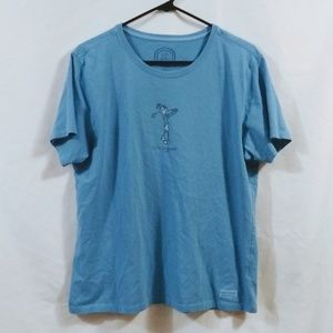 Life Is Good Women's Tee Large Golf Jackie Blue